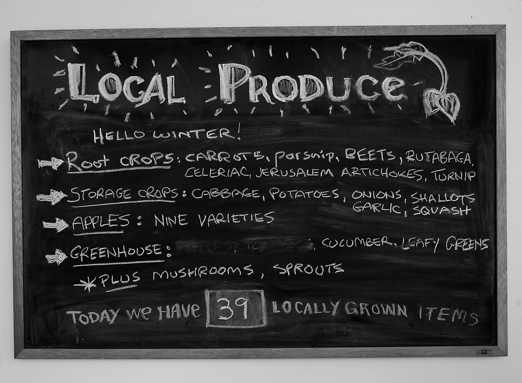 Local produce board
